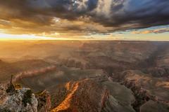 Sunset in Grand Canyon - Arizona (USA) (luke.switzerland) Tags: grand canyon nationalpark sun sunset grandcanyon colors nature landscape travel usa arizona clouds nikon d810