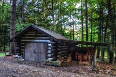 Pugh Cabin Shed - Malabar Farm (Flickr Goot) Tags: october 2016 canon elph 330 hs powershot hdr highdynamicrange handheld malabarfarm ohio state park cabin pugh