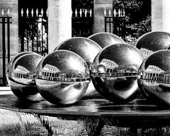 Le monde dans la boule/Circled Life (floressas.desesseintes) Tags: paris palaisroyal boule ball bowl kugel rflexion reflections reflektionen spiegel mirror miroir glace impressionen schwarzweis