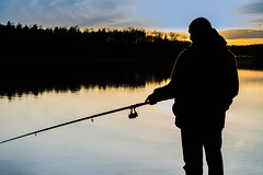 Fisherman at sunset fishing (mikhafff1984) Tags: fishing lake fisherman sunset rod person river summer casting sport male water action outdoor shore pike twitching one recreation men hobby silhouette leisure activity lure recreational pond active freshwater
