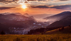 My hometown (coagator) Tags: hometown novavaros sunset sky clouds mountain zlatar serbia srbija sun sity sityscape