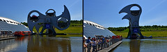 Ecosse - Scotland - Falkirk Wheel (AlCapitol) Tags: ecosse scotland nikon d800 elevator ascenseur falkirkwheel canal boat bateau escocia