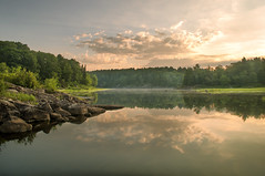 The sun will always rise (Jackx001) Tags: camping nature explore ontario canada toblog jack nobre photography landscape earth water forest trees river sunrise golden 2016 summer blogto