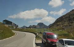 Last bend to Pordoi Pass, Italy (Vee living life to the full) Tags: pordoipass hiking bikes leger travel holidays mountains italy valleys sky road insight nikond300
