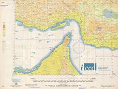 World aeronautical chart. 548: Strait of Hormuz : Iran-Muscat and Oman-Trucial coast (Aerofototeca Nazionale - ICCD) Tags: cold war usaf aviation arabia asia cartography geography oriente carta geografica cartografia geografia maps persian gulf united arab emirates emirati