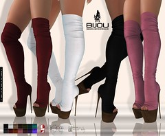 .Bijou ~ Delight Boots! (BijankRau | [ photograp'r model.]) Tags: secondlife sl fashion overknee high heels boots shoes chic bijou bijoux dutch shopping holidays season party xmas christmas quality maitreya slink belleza hourglass physique venus isis freya fitted shoebase hud driven colors