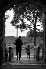 Like Father Like Son (Scott Allaway) Tags: blackandwhite portchester castle sony a77 a77ii alpha hampshire