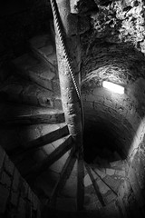 The Descent (Scott Allaway) Tags: blackandwhite portchester castle sony a77 a77ii alpha hampshire
