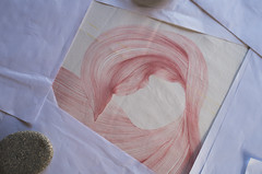 Acid dye on silk, in progress. (Yuko Nagai) Tags: textileart workinprogress creativeprocess abstractioninnature drawing