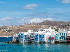 Mykonos - little Venice (patuffel) Tags: mykonos venice small blue sea colourful clouds little leica greece hellas white island greek greekisland