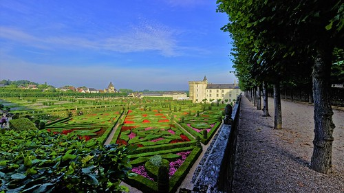 The Château of Villandry and the garden