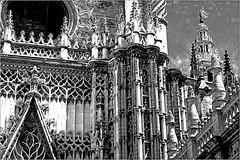 Catedral et Giralda, Sevilla, Andalucia, Espana (claude lina) Tags: claudelina espana spain espagne andalucia andalousie ville town city sevilla sville architecture catedral giralda