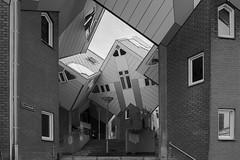 #Rotterdam 2015 (Archineos) Tags: rotterdam kubuswoningen pietblom bn bw monochrome biancoenero blackandwhite blancoynegro architettura architecture urban holland olanda ugovillani archineos