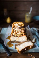 Toffee and pear baked cheesecake (magshendey) Tags: cheesecake foodphoto foodstyling