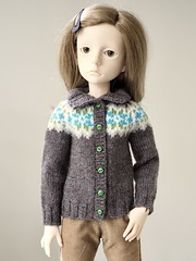 Cardigan Complete! (Jay Bird Finnigan) Tags: knitting stranded fairisle knitpicks stroll dollstown dt7 seola