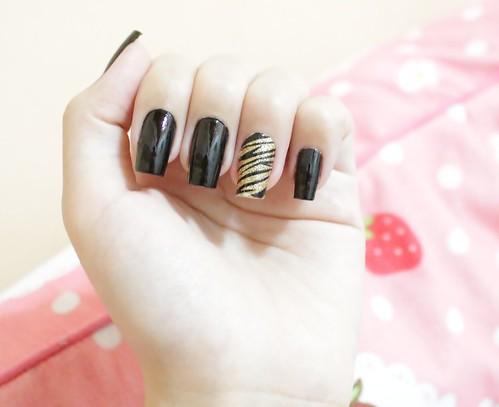 Nail art - Tigre