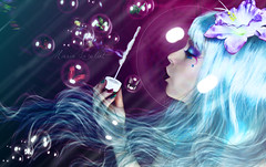Dreams. (Mara Lawliet) Tags: portrait art girl digital photomanipulation photoshop butterfly photography photo model photoshoot makeup bubbles fantasy dreams essence plugs mua nyx maquillaje catrice beautik marialawliet