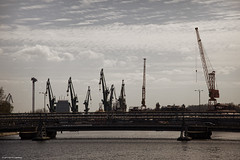 Shipyards (5y12u3k) Tags: bridge industrial cranes shipyard pipeline gdask