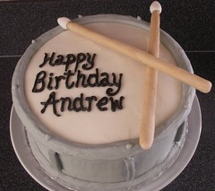 Drum (Heavenly Cupcake SD) Tags: birthday music drum gray sculpted drumsticks
