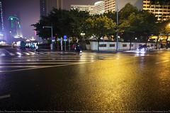 street (ojang jerry) Tags: guangzhou street city light wet sign night eos cityscape rainy nightscene buiding   5d2 ef24mml  flickrtravelaward