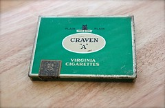 "Craven ""A"" (A Great Capture) Tags: old green metal vintage tin virginia sticker mark cigarette case collection tax collectors trade plain item craven ald a ash2276 ashleyduffus"