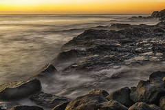 Sunrise on the rocks (banphotography) Tags: ocean longexposure sea sunrise dawn rocks waves daybreak snapperrocks rainbowbay
