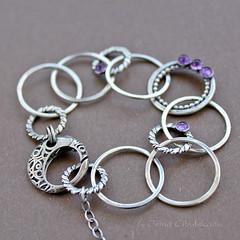 Simplicity (Taniri) Tags: bracelet amethyst sterlingsilver