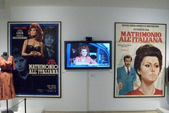 Rome: Matrimonio all'italiana at Vittorio De Sica exhibition (stuartpaterson) Tags: italy rome roma costume oscar italian italia dress roman actress actor director sophia silvioberlusconi romanempire citta moviestill sophialoren academyaward romanemperor italianstyle bicyclethieves yesterdaytodayandtomorrow marcellomastroianni italianmovie carloponti ginalollobrigida arapacismuseum ierioggidomani matrimonioallitaliana arapacismuseo giorgioneopolitano