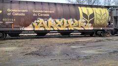 ARCHER (MINNESOTA MUNSTER) Tags: minnesota train bench graffiti arch graff archer mn freight mankato flickrandroidapp:filter=none