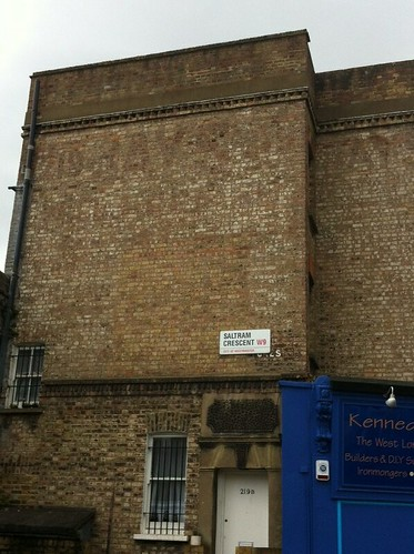 Ghost sign in Saltram Crescent, London W9.