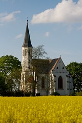 White church in yellow field close view (Michael Tracy's photos) Tags: poland nyas