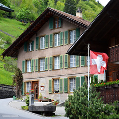 Hotel, Lauterbrunnen, Switzerland (adamw084) Tags: schweiz switzerland waterfall nikon suisse swiss bern lauterbrunnen swissalps d600 nikond600