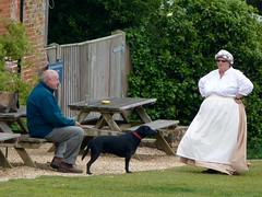 Present and Past times? (Belinda Fewings (3 million views. Thank You)) Tags: blue people dog labrador candid country hampshire persons beaulieu peoplewatching bucklershard panasoniclumix beaulieuandbucklershard belindafewings