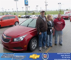 Crossroads Chevrolet Cadillac would like to say Congratulations to Guy Mulanax on the 2013 Chevrolet Cruze (Crossroads Chevrolet Cadillac) Tags: new chevrolet car sedan truck wagon happy pickup cadillac mo used vehicles chevy missouri bday van minivan suv crossroads luxury coupe dealership caddy joplin shoutouts hatchback dealer customers 4dr 2dr preowned