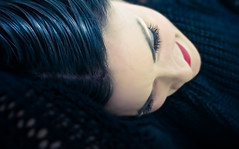 FDCA (XeLflick) Tags: light portrait italy 6 black beautiful female hair relax xpro october soft skin sony lips crossprocessing lightroom nex 1650 pancakelens 2013 nex6