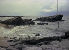 A large thunderstorm hovers over Long Island Sound on a dreary day as seen from the Anchor beach in the Woodmont neighborhood. Milford Connecticut. March 18, 1973. (wavz13) Tags: painterly beach waves artistic 110 grain stormy beaches oldphotographs grainy oceans storms oldphotos analogphotography stormclouds kodacolor instamatic frightening vintagephotos oldphotography filmphotography subminiature vintagephotographs milfordbeach impendingstorm 110film connecticutshoreline signalrock oldsnapshots vintagephotography 1970sphotos vintagesnapshots pocketinstamatic connecticutphotography oldnewengland sumini connecticutbeaches connecticutphotos 1970sphotographs vintageconnecticut 1970sphotography vintagenewengland oldconnecticut oldmilford milfordbeaches connecticutphotographs oldconnecticutphotography oldconnecticutphotos vintagewoodmont oldwoodmont vintagemilford 1970swoodmont 1970smilford vintagenewenglandphotos oldnewenglandphotos 1970snewengland vintagenewenglandphotography oldnewenglandphotography