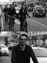 [La Mia Citt][Pedala] (Urca) Tags: milano italia 2016 bicicletta pedalare ciclista ritrattostradale portrait dittico nikondigitale mir bike bicycle biancoenero blackandwhite bn bw 872115