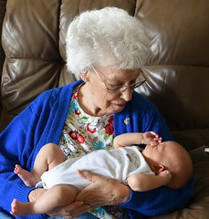 Admiring (donna_0622) Tags: baby holding looking nana greatgrandma greatgrandson nikon d750
