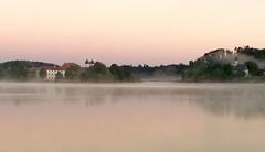 Morgenstimmung am See (blichb) Tags: blichb 2016 iphone5s iphoneographie seeon see bayern deutschland klosterseeon nebel wasser sonnenaufgang