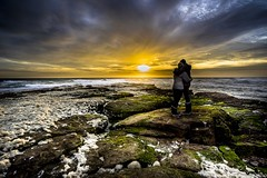 Sunset in Love - Ambleteuse - Pas de Calais - France (belzebello) Tags: beach art sky paysage colors luminosity nature plage lumiere mer nord sand love france night sun luminosite cloud landscape amazing sea sunset beautiful beaches light sony