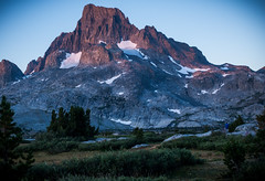 First Light on Banner Peak (deanwampler) Tags: sierras bannerpeak thousandislandlake anseladamswilderness jmt johnmuirtrail