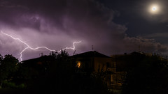 Horror House (amedeo700) Tags: night tuscany toscana lightning luna moon nuvole notte clouds fulmine