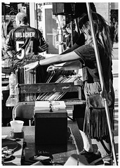 Flipping Through The Vinyl Records (swanksalot) Tags: renegadecraftfair music vinyl chicago blackandwhite bw strangers wickerpark records