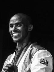 Double Mo (marktmcn) Tags: mo farah british olympian london olympics 2012 double gold medal winner champion 5000 10000 m metres rio portrait blackandwhite monochrome powershot sx210