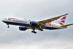 G-YMML British Airways Boeing 777-236(ER) 20160917 (t1mdean) Tags: boeing b772 britishairways livery london heathrow avgeek airliner
