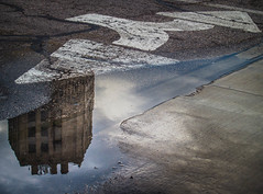 Elgin (abso847) Tags: elgin tower reflection street rain puddle