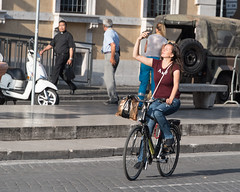 A selfie, on a bike, with her eyes closed....... what the... (Steve Barowik) Tags: rome roma lazio nikond750 barowik stevebarowik sbofls26 nikon28300mmf35f56g italy italia zoom fx fullframe piazza city citta vatican campo termini forum colisseum collisseo trevi spanishsteps piazzanavona treefontana lovelycity unlimitedphotos wonderfulworld quantumentanglement flickrelite