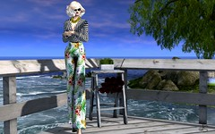 Evening Dockside (Jamee Sandalwood - Miss V SWEDEN 2015) Tags: sl secondlife slfashion sexy art blog blonde blogger blogged beach couture casual amarelomanga model newrelease photography photo photographer pixel summer virtual outdoors outside outdoor