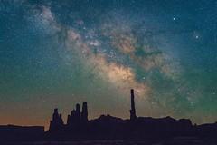 Totem Pole (Edward Tian) Tags: astrophotography sonysingapore sonyalphaprofessionals arizona navajo monumentvalley nightsky stars milkyway