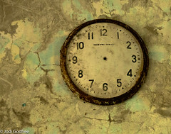 Clock with no hands (Dave and Jodi Piddington) Tags: chernobyl ukraine holiday decay abandonedbuildings death history nucleardisaster accident travel dark tourism darktourism photography architecture nuclear disasters adventure kiev blackandwhite